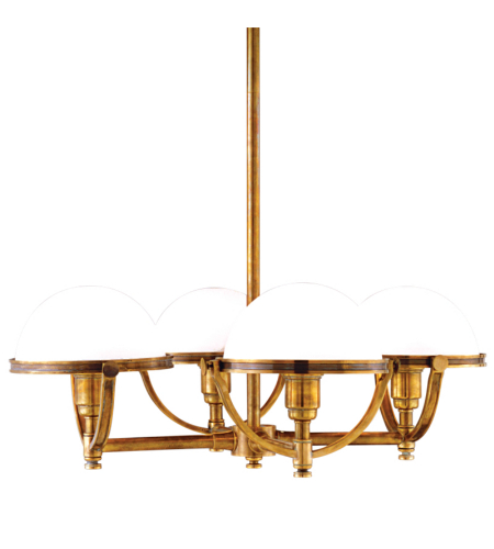 Hudson Valley 3314-Agb Stratford 4 Light Chandelier In Aged Brass