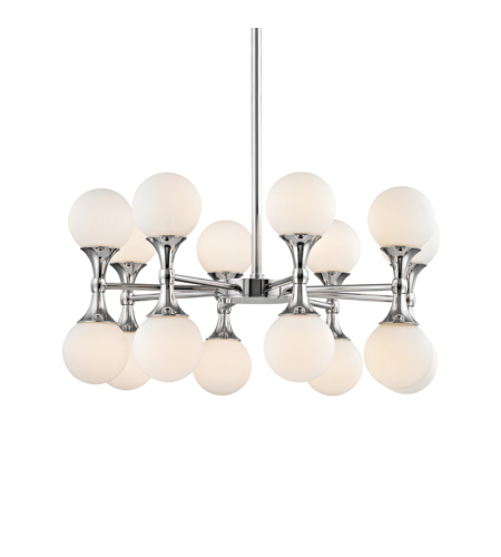 Hudson Valley 3316-PC Astoria 16 Light Chandelier in Polished Chrome