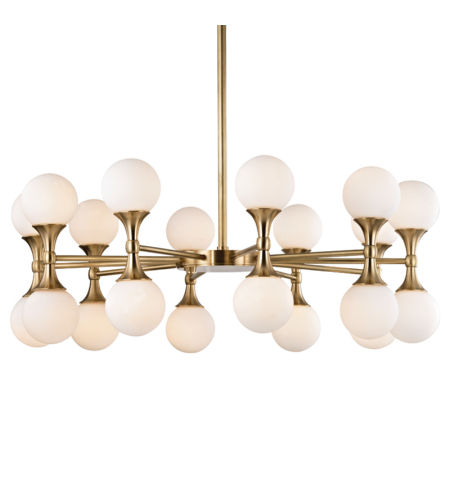 Hudson Valley 3320-Agb Astoria 20 Light Chandelier In Aged Brass