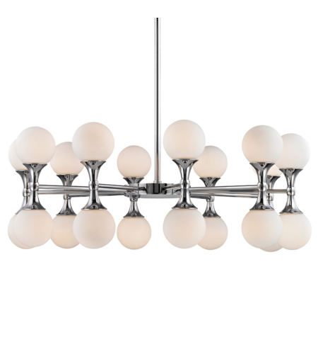 Hudson Valley 3320-Pc Astoria 20 Light Chandelier In Polished Chrome