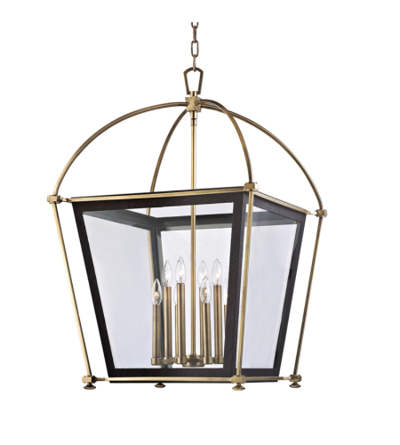 Hudson Valley 3624-AGB Hollis 8 Light Pendant in Aged Brass