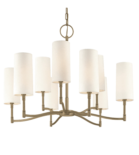 Hudson Valley 369-An Dillon 9 Light Chandelier In Antique Nickel