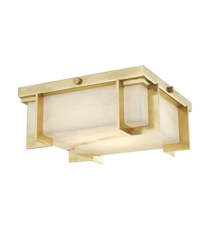 Hudson Valley Lighting 3910-AGB Delmar Led Small Flush Mount in Aged Brass