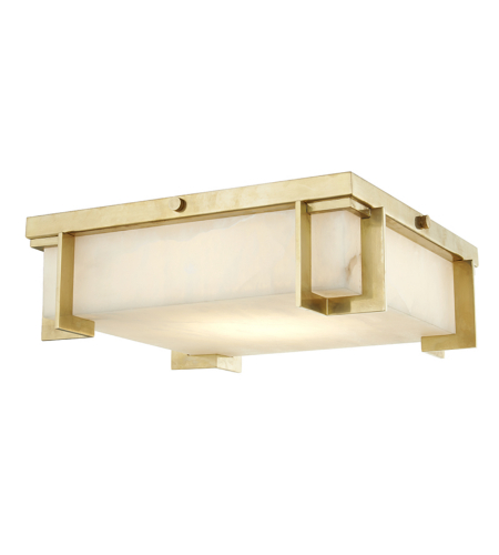 Hudson Valley Lighting 3913-AGB Delmar Led Large Flush Mount in Aged Brass