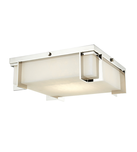 Hudson Valley Lighting 3913-PN Delmar Led Large Flush Mount in Polished Nickel