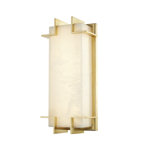 Hudson Valley Lighting 3915-AGB Delmar Led Wall Sconce in Aged Brass