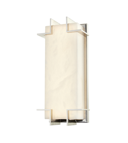 Hudson Valley Lighting 3915-PN Delmar Led Wall Sconce in Polished Nickel