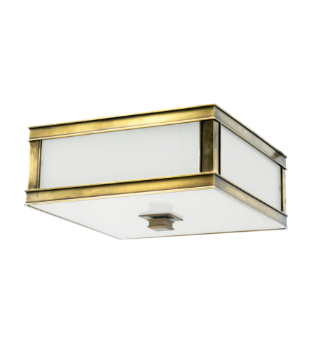 Hudson Valley 4210-Agb Preston 1 Light Flush Mount In Aged Brass