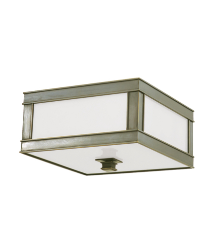 Hudson Valley 4210-Hn Preston 1 Light Flush Mount In Historic Nickel