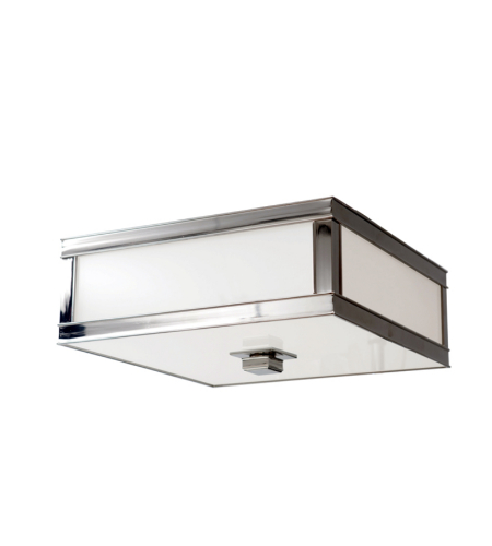 Hudson Valley 4210-Pn Preston 1 Light Flush Mount In Polished Nickel