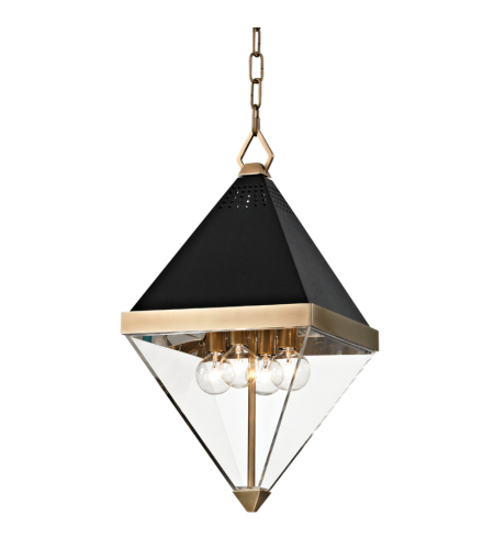 Hudson Valley 4510-Agb Coltrane 4 Light Pendant In Aged Brass
