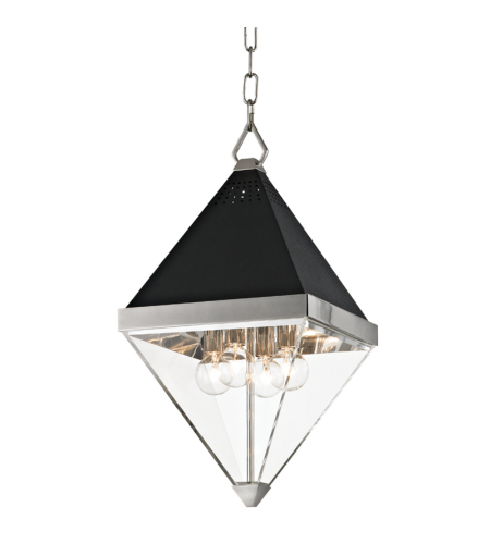 Hudson Valley 4510-Pn Coltrane 4 Light Pendant In Polished Nickel