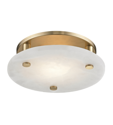 Hudson Valley Lighting 4712-AGB Croton Medium Led Flush Mount in Aged Brass