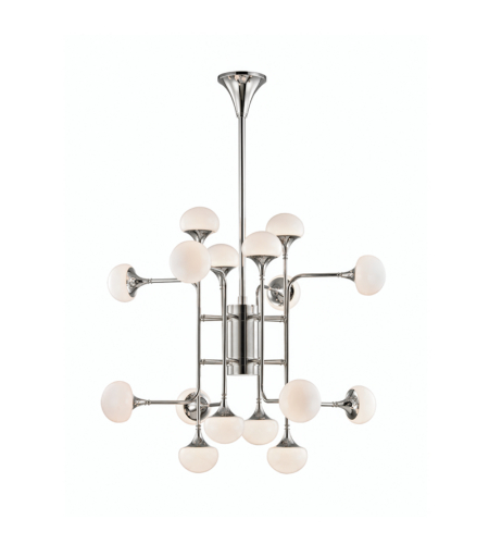 Hudson Valley 4716-Pn Fleming 16 Light Chandeleir In Polished Nickel