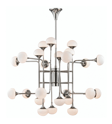 Hudson Valley 4724-Pn Fleming 24 Light Chandelier In Polished Nickel