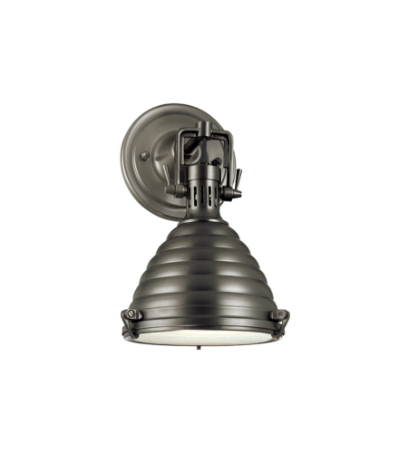 Hudson Valley 5108-An Naugatuck 1 Light Wall Sconce In Antique Nickel