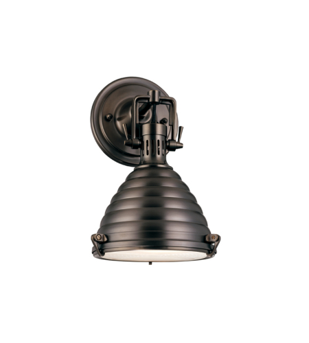Hudson Valley 5108-Hb Naugatuck 1 Light Wall Sconce In Historic Bronze