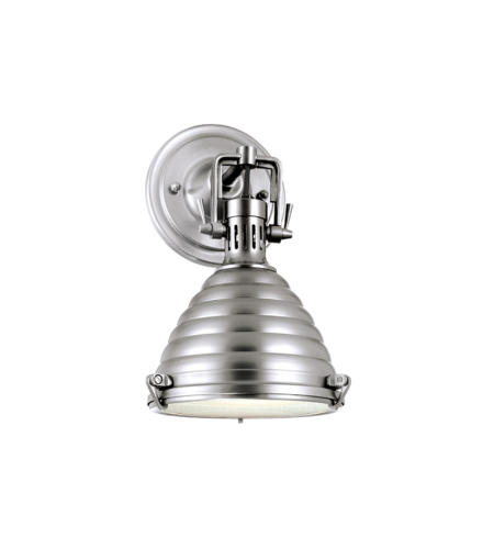Hudson Valley 5108-Pn Naugatuck 1 Light Wall Sconce In Polished Nickel
