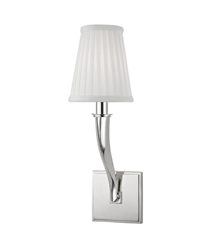 Hudson Valley 5121-Pn Hildreth 1 Light Wall Sconce In Polished Nickel