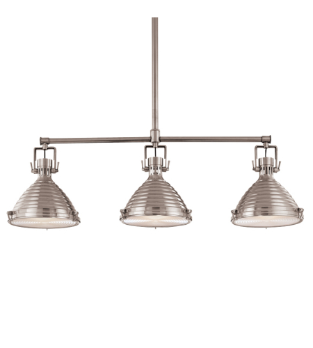 Hudson Valley 5123-Pn Naugatuck 3 Light Island In Polished Nickel
