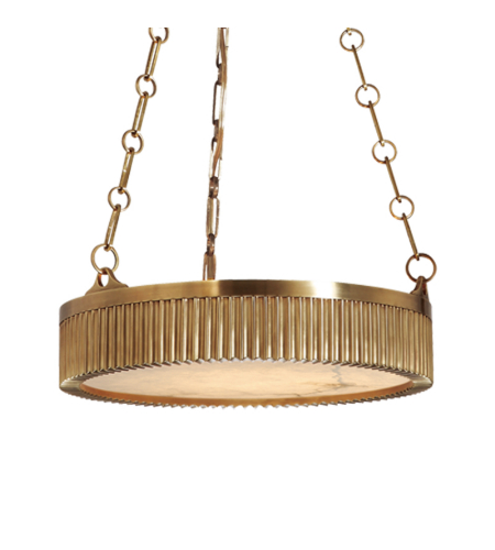 Hudson Valley 516-AGB Lynden 4 Light Pendant in Aged Brass