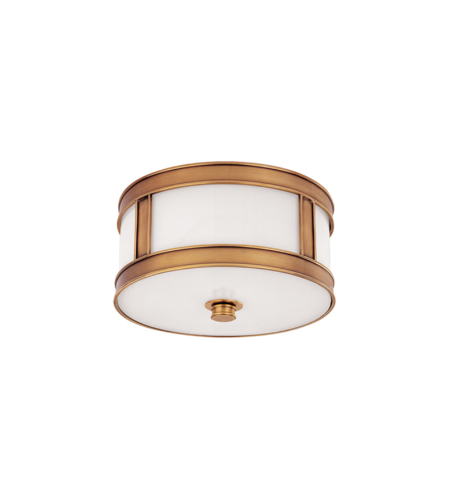 Hudson Valley 5510-Agb Patterson 1 Light Flush Mount In Aged Brass