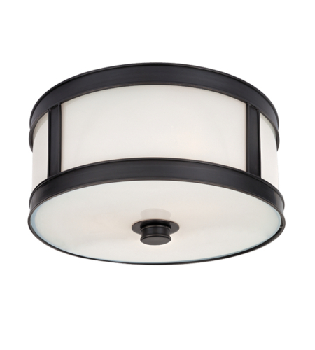 Hudson Valley 5510-Ob Patterson 1 Light Flush Mount In Old Bronze