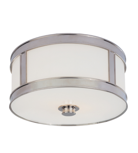 Hudson Valley 5510-Pn Patterson 1 Light Flush Mount In Polished Nickel