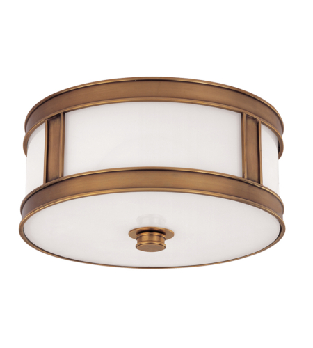 Hudson Valley 5513-Agb Patterson 2 Light Flush Mount In Aged Brass