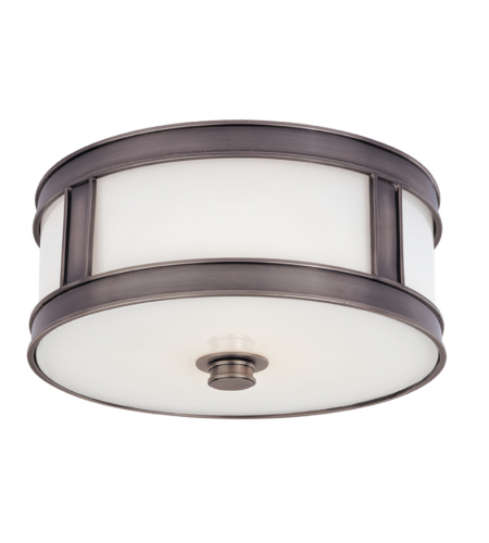 Hudson Valley 5513-Hn Patterson 2 Light Flush Mount In Historic Nickel