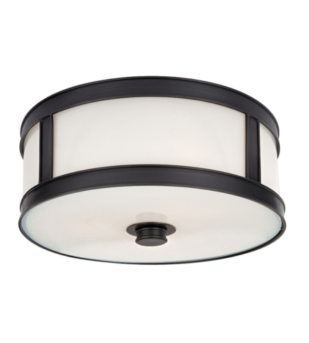 Hudson Valley 5513-Ob Patterson 2 Light Flush Mount In Old Bronze