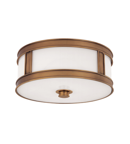 Hudson Valley 5516-Agb Patterson 3 Light Flush Mount In Aged Brass