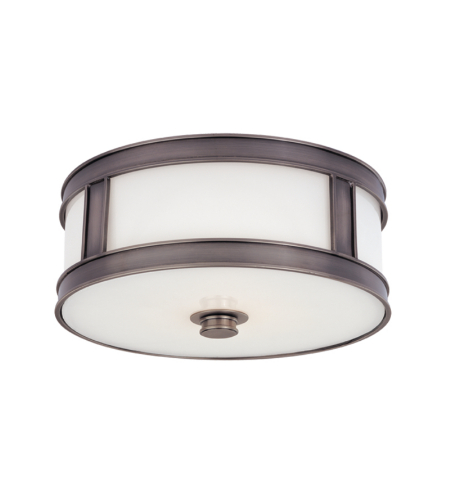 Hudson Valley 5516-Hn Patterson 3 Light Flush Mount In Historic Nickel