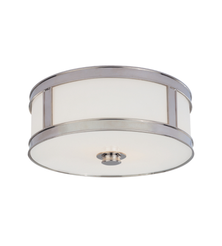 Hudson Valley 5516-Pn Patterson 3 Light Flush Mount In Polished Nickel