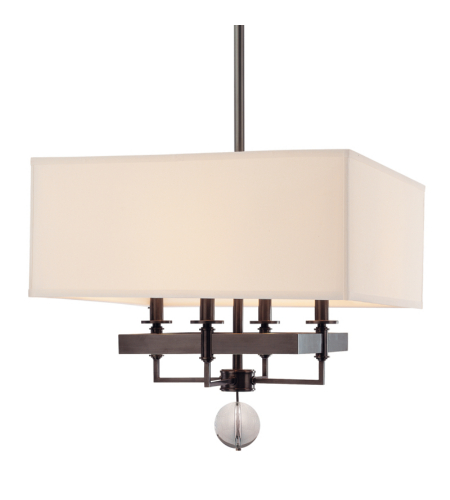 Hudson Valley 5645-OB Gresham Park 4 Light Chandelier in Old Bronze