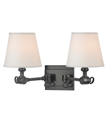 Hudson Valley 6232-OB Hillsdale 2 Light Wall Sconce in Old Bronze