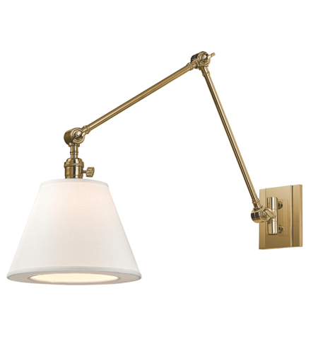 Hudson Valley 6234-Agb Hillsdale 1 Light Swing Arm Wall Sconc In Aged Brass