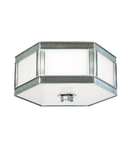 Hudson Valley 6410-Hn Nassau 1 Light Flush Mount In Historic Nickel