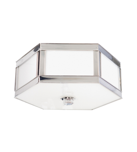 Hudson Valley 6410-Pn Nassau 1 Light Flush Mount In Polished Nickel