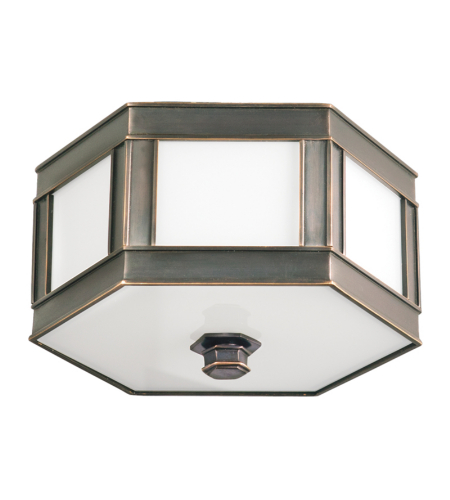 Hudson Valley 6413-Ob Nassau 2 Light Flush Mount In Old Bronze