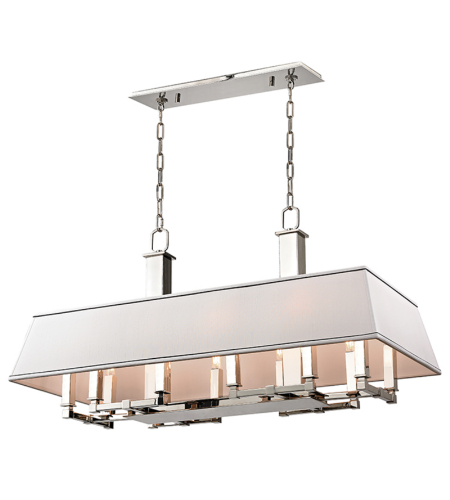 Hudson Valley 7038-Pn Kingston 12 Light Island In Polished Nickel