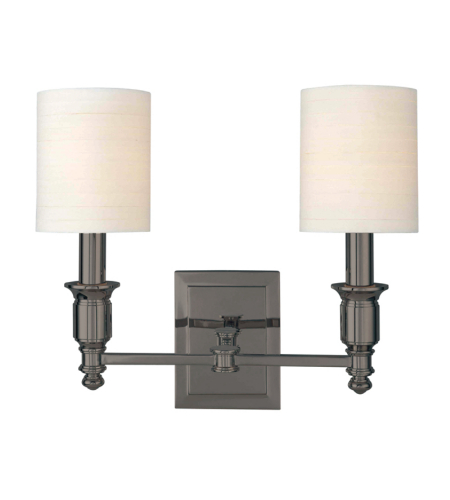 Hudson Valley 7502-AN Whitney 2 Light Wall Sconce in Antique Nickel