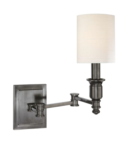Hudson Valley 7511-AN Whitney 1 Light Wall Sconce in Antique Nickel