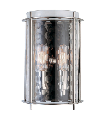 Hudson Valley Lighting 7602-PN Esopus 2 Light Wall Sconce in Polished Nickel