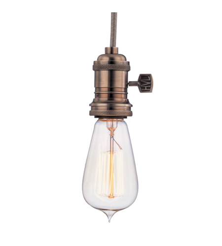 Hudson Valley 8001-Hn Heirloom 1 Light Pendant In Historic Nickel