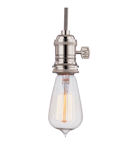 Hudson Valley 8001-Pn Heirloom 1 Light Pendant In Polished Nickel
