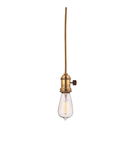 Hudson Valley 8002-Agb Heirloom 1 Light Pendant In Aged Brass