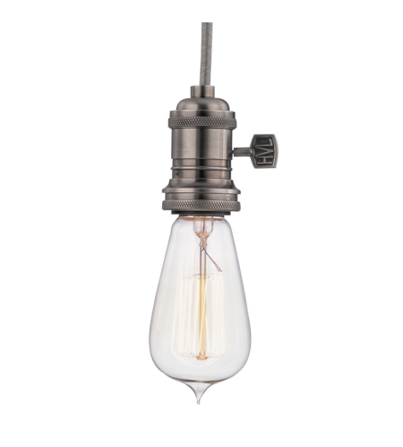 Hudson Valley 8002-Hn Heirloom 1 Light Pendant In Historic Nickel