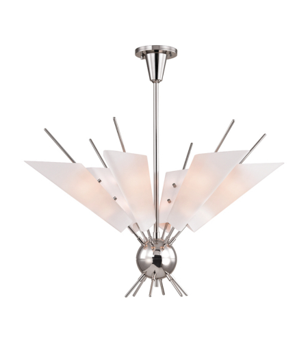 Hudson Valley 8066-Pn Cooper 12 Light Chandelier In Polished Nickel