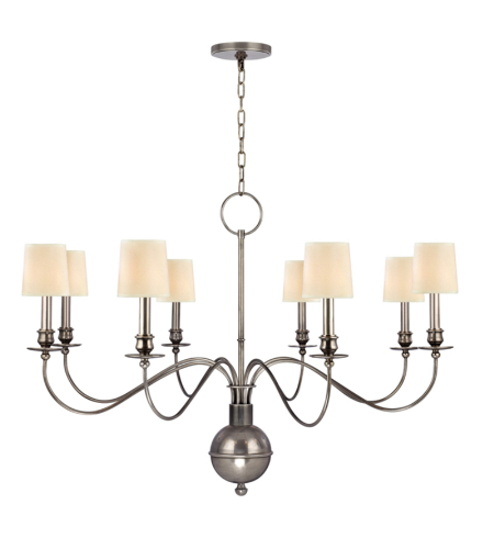 Hudson Valley Lighting 8218-AS Cohasset 8 Light Chandelier in Aged Silver